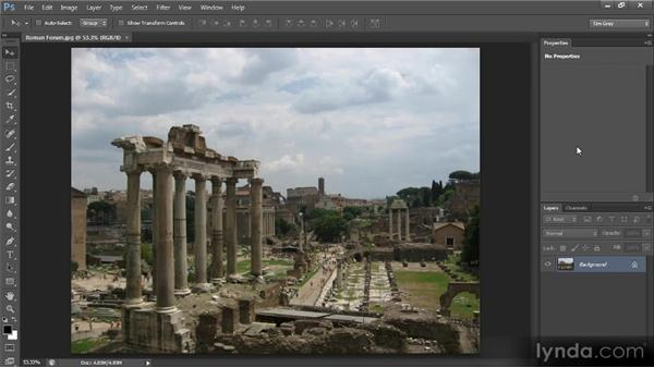 Reviewing the image: Photoshop CS6 Image Cleanup Workshop
