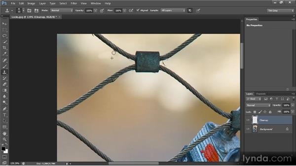 Nondestructive cleanup: Photoshop CS6 Image Cleanup Workshop