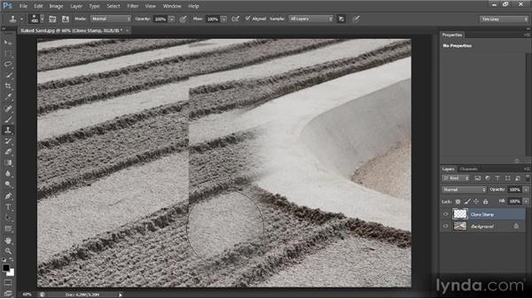 Brush hardness considerations: Photoshop CS6 Image Cleanup Workshop