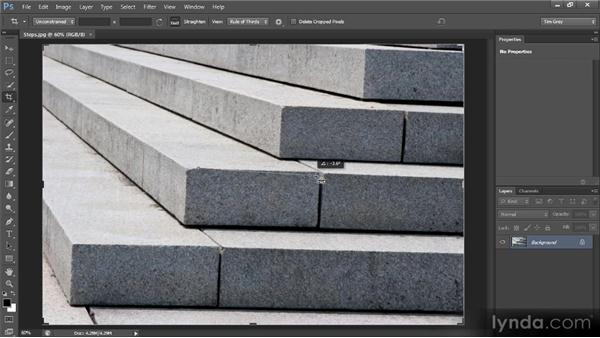 Straightening a crooked image: Photoshop CS6 Image Cleanup Workshop