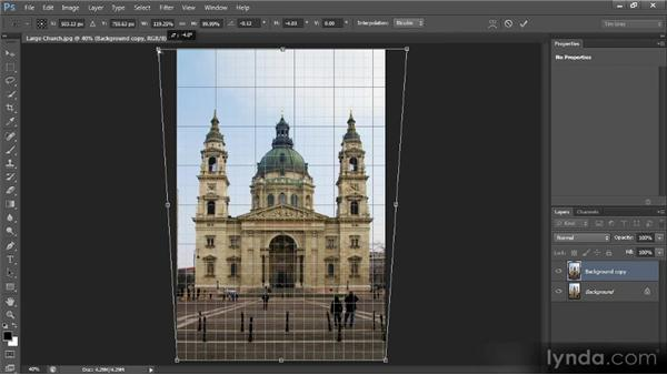 Correcting perspective: Photoshop CS6 Image Cleanup Workshop