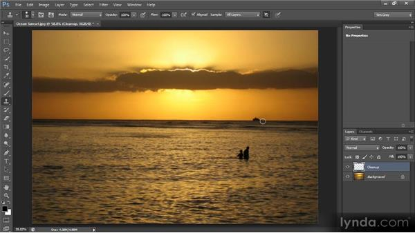 The Clone Stamp tool: Photoshop CS6 Image Cleanup Workshop