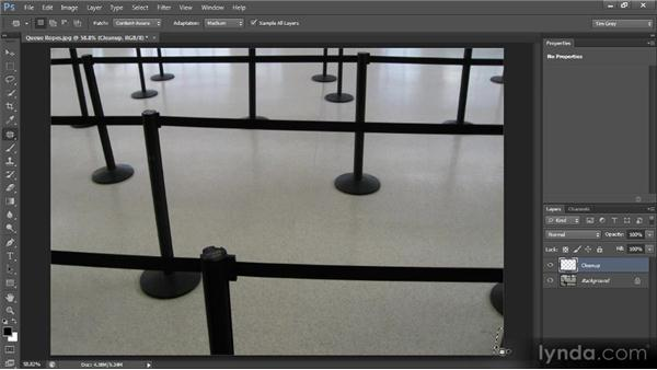 The Patch tool: Photoshop CS6 Image Cleanup Workshop
