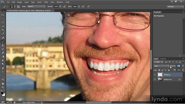 Brightening and whitening: Photoshop CS6 Image Cleanup Workshop