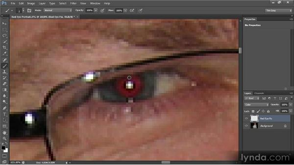 Red-eye removal: Photoshop CS6 Image Cleanup Workshop