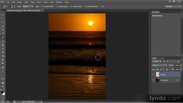 Toning down rather than removing: Photoshop CS6 Image Cleanup Workshop