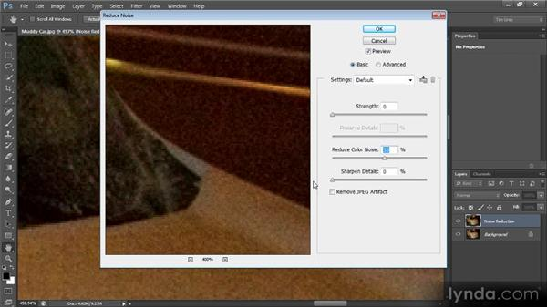 Reducing noise: Photoshop CS6 Image Cleanup Workshop
