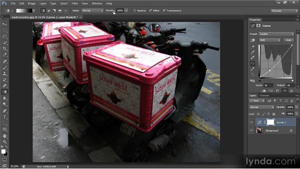 Gradient adjustments: Photoshop CS6 Image Cleanup Workshop