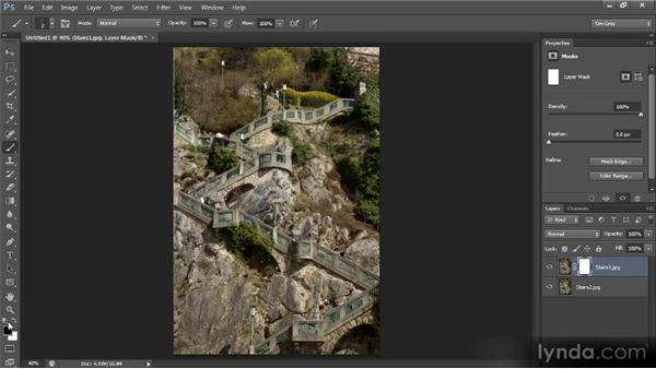 Using multiple exposures to remove subjects from an image: Photoshop CS6 Image Cleanup Workshop