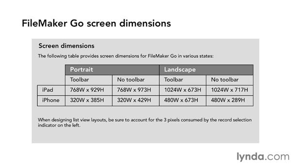 Design considerations in FileMaker Go: Up and Running with FileMaker Go