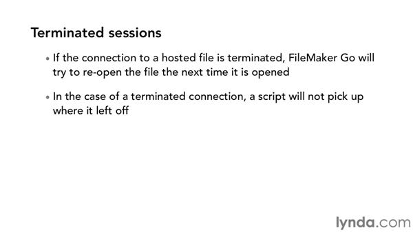 Security and session management: Up and Running with FileMaker Go