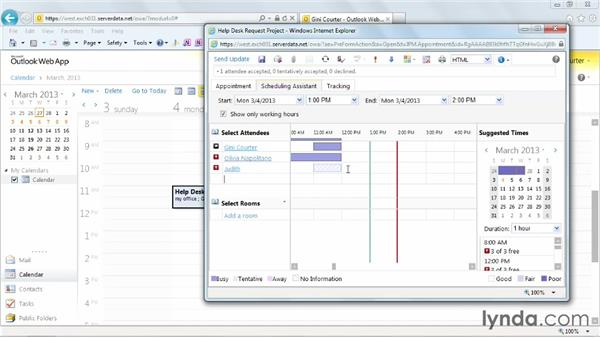 Updating a meeting: Outlook Web App (OWA) 2010 Essential Training