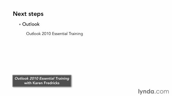 Next steps: Outlook Web App (OWA) 2010 Essential Training