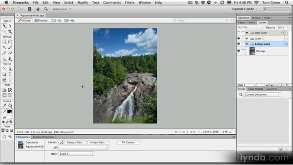 Touring the interface: Fireworks CS6 Workshop