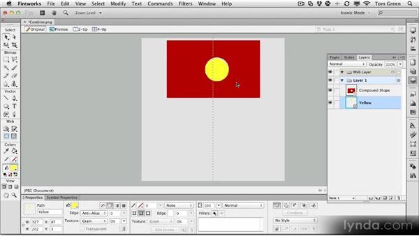 Creating compound shapes: Fireworks CS6 Workshop