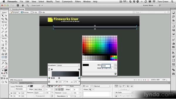 Creating an alternate interface for the FWUser site: Part one: Fireworks CS6 Workshop