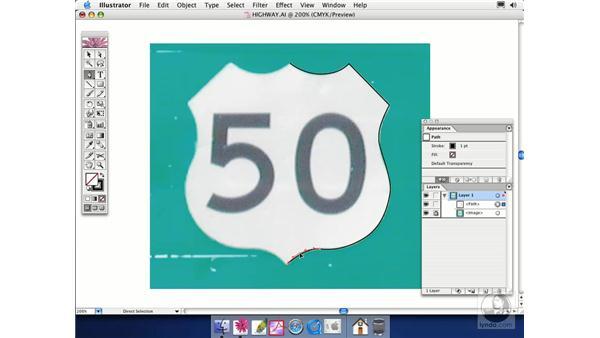 tracing a shape: Illustrator CS Essential Training