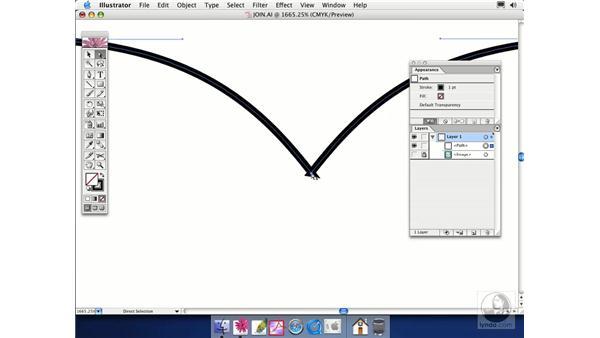 joining paths: Illustrator CS Essential Training