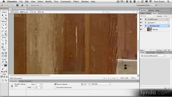 Removing image artifacts: Fireworks CS6 Workshop