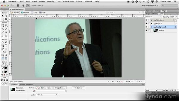 Creating a bitmap mask: Fireworks CS6 Workshop