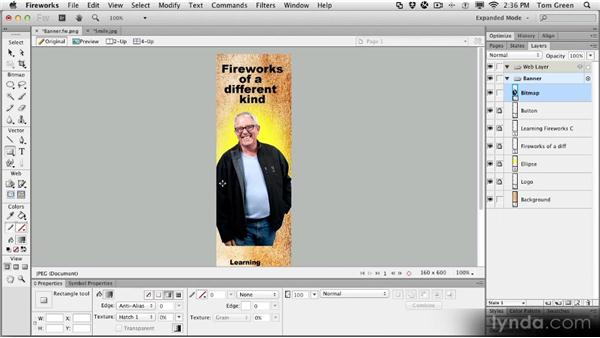 Project: Building a banner ad: Fireworks CS6 Workshop