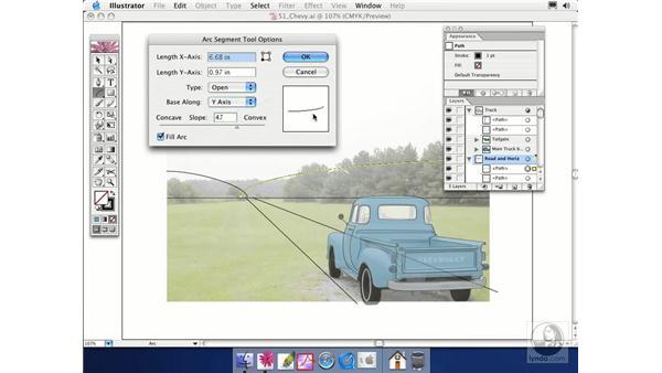 lines and arcs: Illustrator CS Essential Training