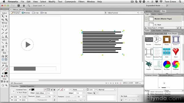 Project: Wireframing a prototype: Fireworks CS6 Workshop