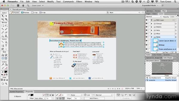 Creating shared layers: Fireworks CS6 Workshop