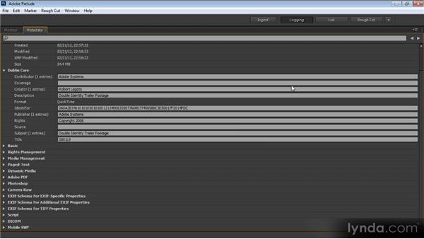 Working with metadata: Prelude CS6 Workshop
