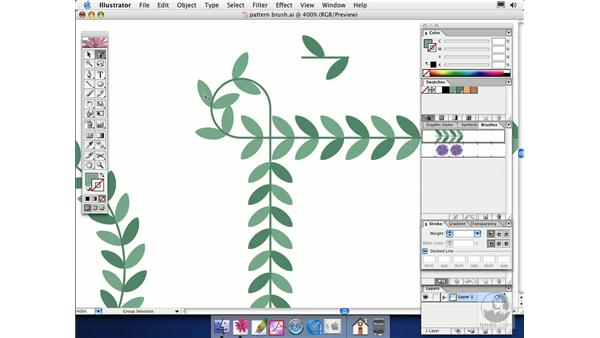 pattern brushes: Illustrator CS Essential Training