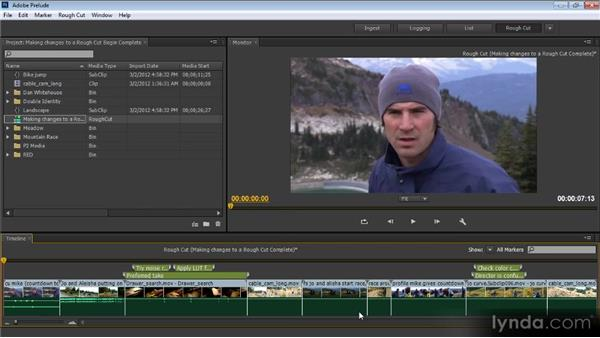 Making changes to a rough cut: Prelude CS6 Workshop