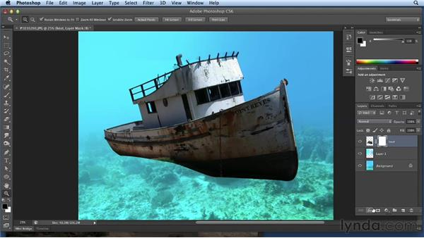 Compositing the bottom of the boat: Bert Monroy: Dreamscapes Volume 3