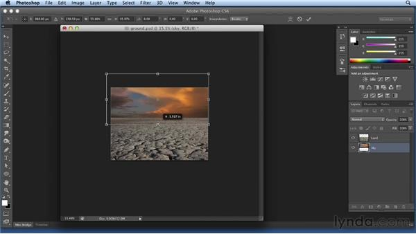 Compositing the sky and land: Bert Monroy: Dreamscapes Volume 3
