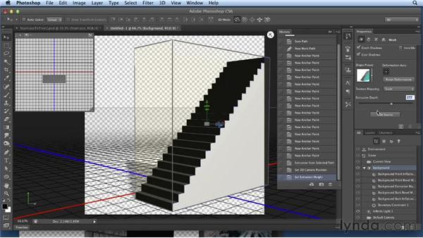 Making a 3D staircase: Bert Monroy: Dreamscapes Volume 3