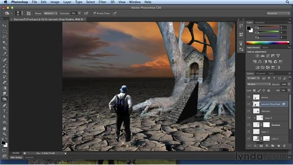 Selecting and compositing a person: Bert Monroy: Dreamscapes Volume 3