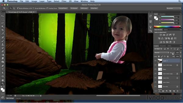 Isolating and compositing the child: Bert Monroy: Dreamscapes Volume 3