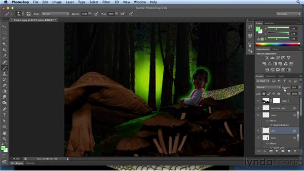 Compositing the wings: Bert Monroy: Dreamscapes Volume 3