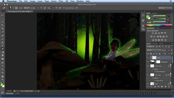 Adding glow to fairies: Bert Monroy: Dreamscapes Volume 3