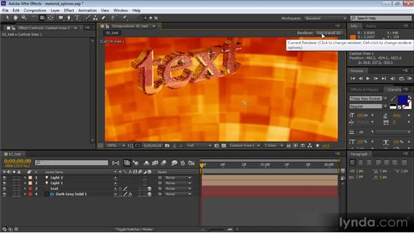 Using the ray-traced 3D renderer: After Effects CS6 New Features Overview