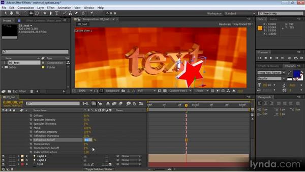 Material options: After Effects CS6 New Features Overview