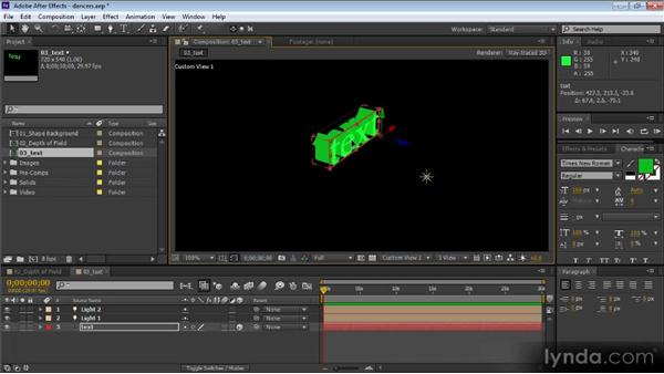 Layer bounding boxes and selection indicators: After Effects CS6 New Features Overview