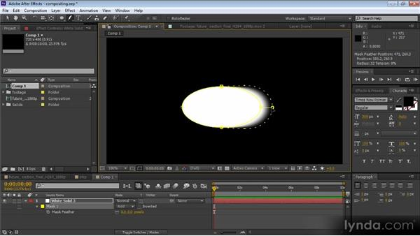 Variable-width mask feathering: After Effects CS6 New Features Overview