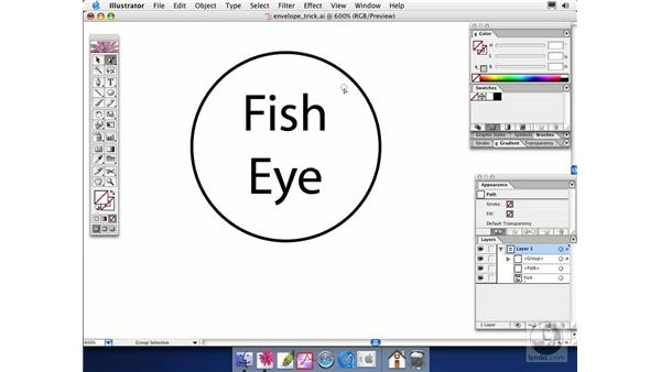 envelope trick: Illustrator CS Essential Training