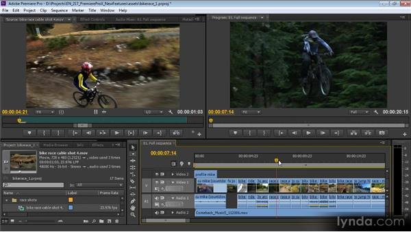 Source Monitor, Program Monitor, Timecode, and Timeline panel changes: Premiere Pro CS6 New Features Overview