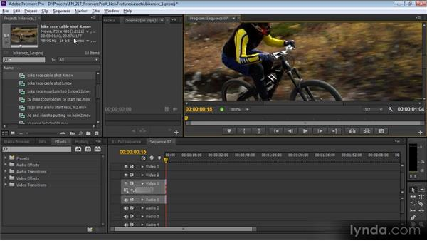 Changing a sequence to match a clip: Premiere Pro CS6 New Features Overview
