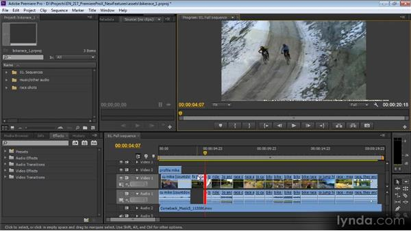 Dynamic trimming and editing with the keyboard: Premiere Pro CS6 New Features Overview