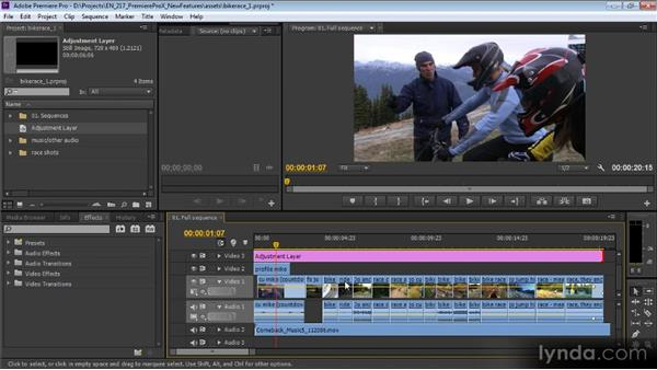 Adjustment layers, effects, and continuous playback: Premiere Pro CS6 New Features Overview