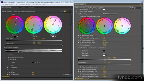 The redesigned Three-Way Color Corrector: Premiere Pro CS6 New Features Overview
