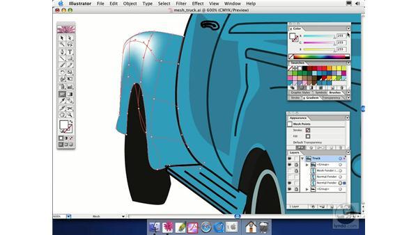 gradient mesh: Illustrator CS Essential Training