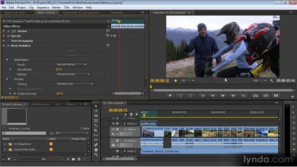 The Warp Stabilizer effect: Premiere Pro CS6 New Features Overview